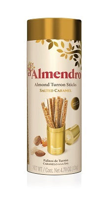 Almond turron sticks salted caramel 136 g