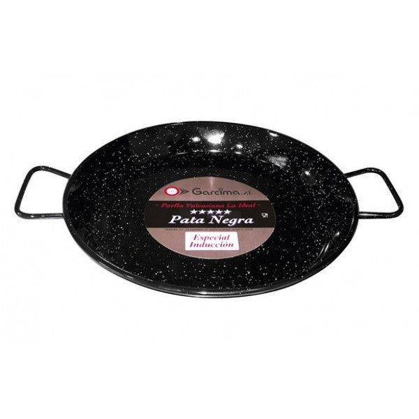 Enamelled Steel Paella Pan Suitable For Induction (Various Sizes)