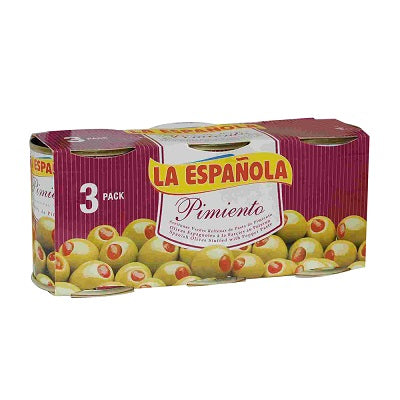 La Española Red Pepper Stuffed Olives (3 x 50 g)