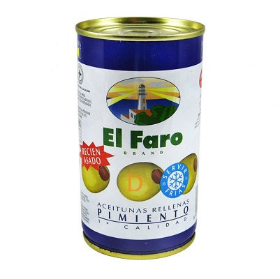El Faro Roasted Red Pepper Stuffed Olives 130 g