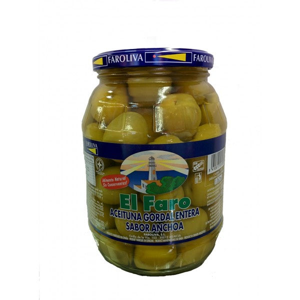 El Faro Whole Green Gordal Olives 600 g
