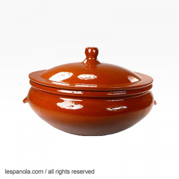 Terracotta Wavy Lid Cooking Pot (Various Sizes)