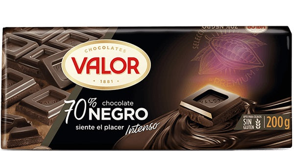 Valor Chocolate Bar 70% Dark Chocolate 300 g