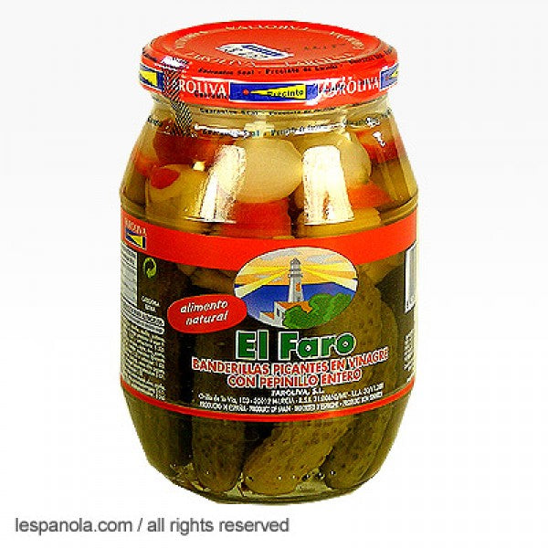 El Faro Hot Pickled Vegetables Skewers (Banderillas) 370 g