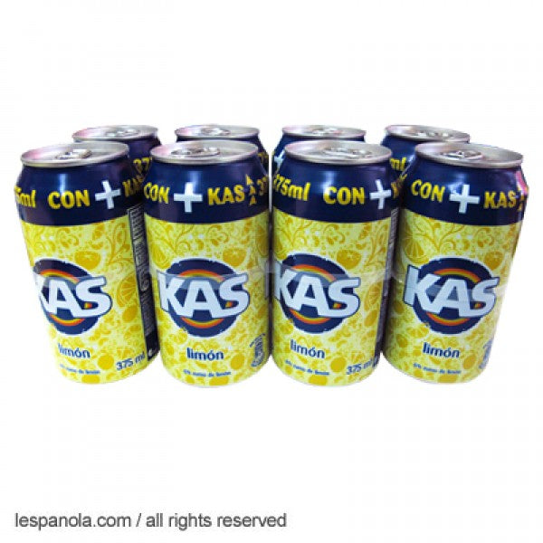 Kas Lemon Soda Soft Drink 8 x 330ml Cans