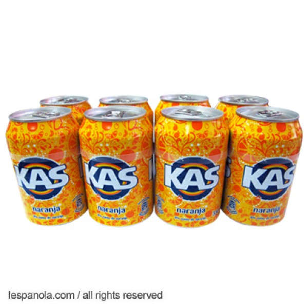 Kas Orange Soda Soft Drink 8 x 330ml Cans