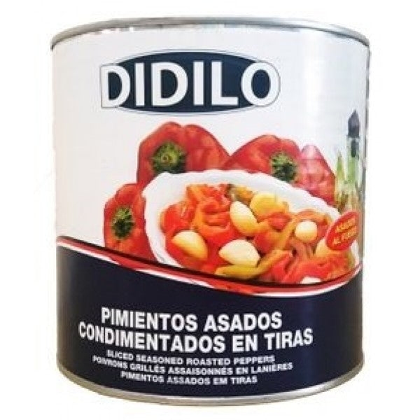 Didilo Sliced Seasoned Roasted Peppers 1.65 kg