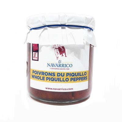 El Navarrico Whole Piquillo Peppers 320 g