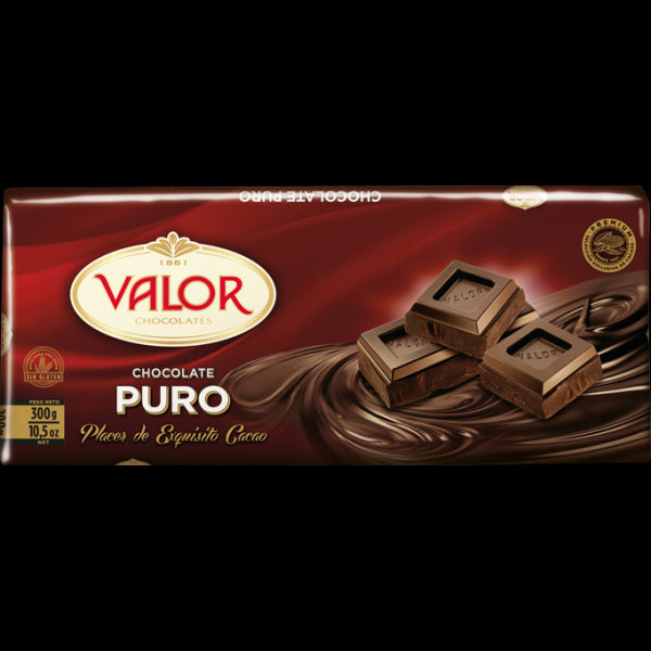 Valor Puro Chocolate Bar 300 g