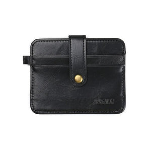 JINBAOLAI Men Business Leather  Credit ID Card Women card Holder Mens Billfold Slim Mens Clutch #4M