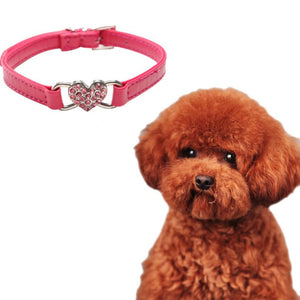 2016 Hot Selling Pet Dog Products Diamond Pet Dog Cat Rhinestone Puppy Collar Crystal Leather Bling
