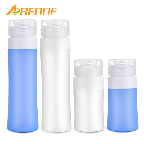 ABEDOE 38ml/80ml Travel Bottle Container For Acetone Polish Remover Alcohol Liquid Shampoo Empty Clear Pump Dispenser Perfume
