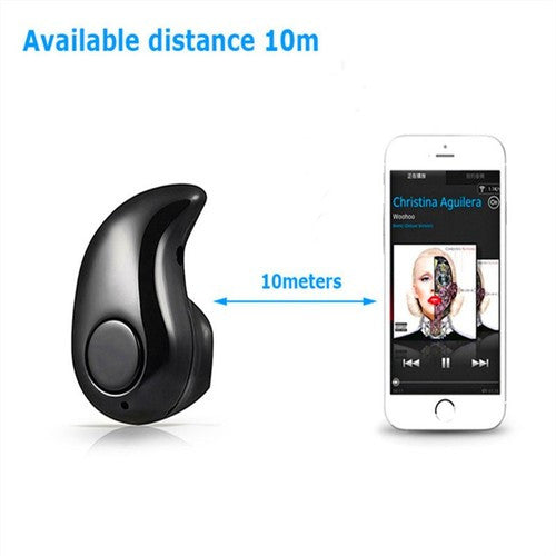Mini Bluetooth Headset Stereo Handsfree Microphone In-Ear Headphones