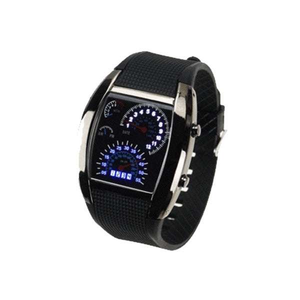 LED Digital Watch Men's Race Car Military Style