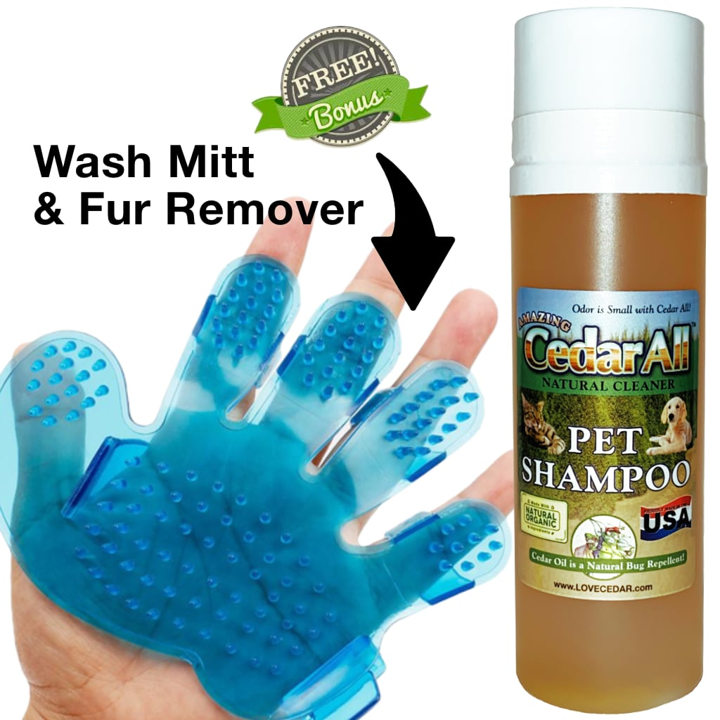 Amazing Cedar™ Pet Shampoo The Best Dog Shampoo & Cat Shampoo Anti Itch Flea Shampoo for Dogs