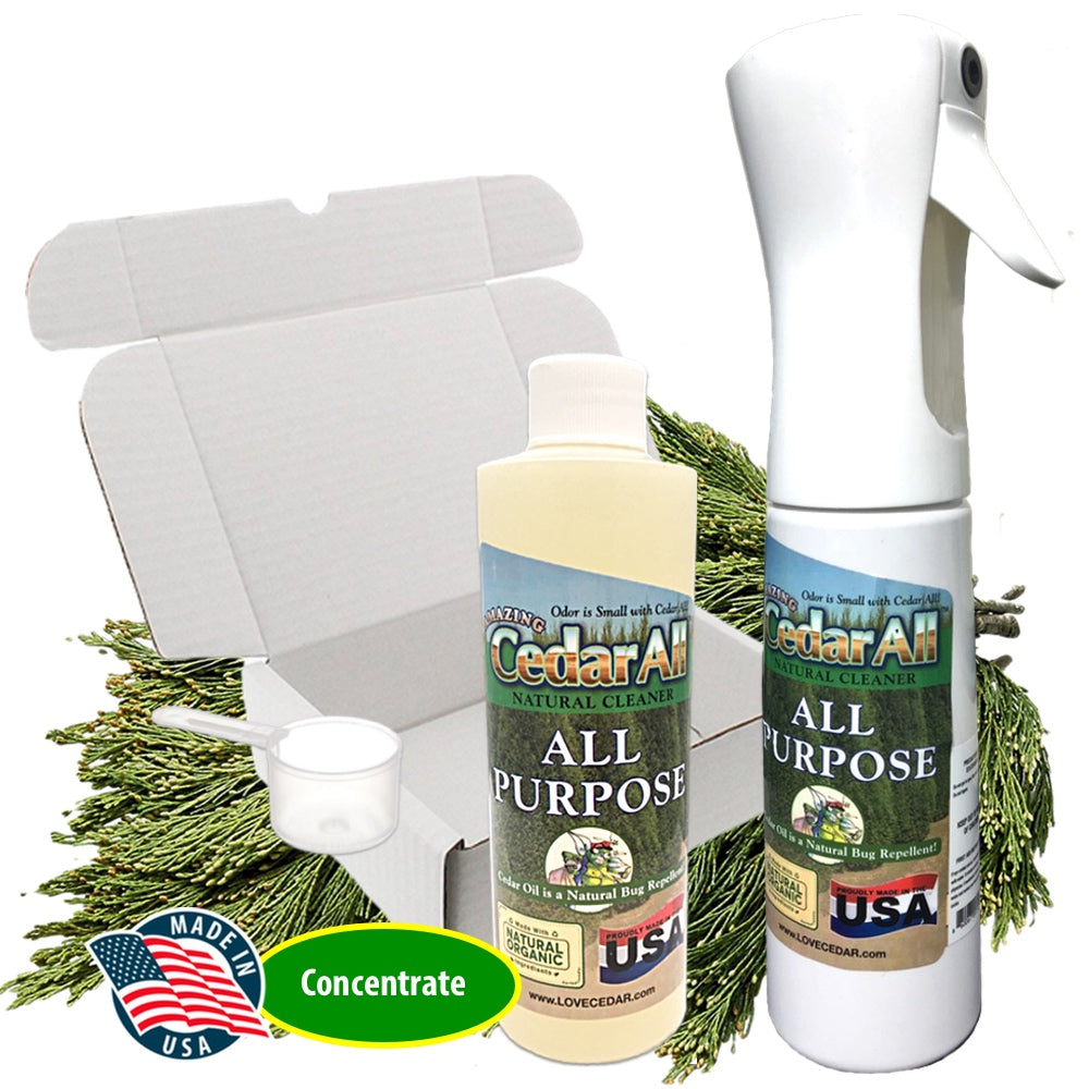 Amazing Cedar™ All Purpose Natural Cleaner Spray Kit – Clean, Degrease, Deodorize. Refill Concentrate