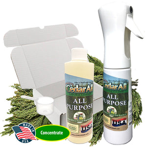 Amazing Cedar All Purpose Natural Cleaner Spray Kit – Clean, Degrease, Deodorize. Refill Concentrate