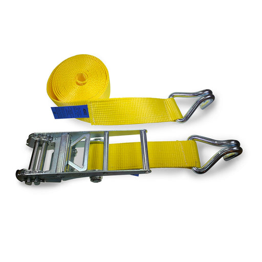 10,000kg Ratchet Strap with Claw Hooks - 8 Metres