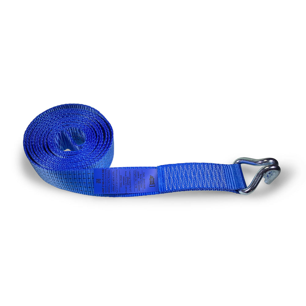 5000kg Webbing Strap with Claw Hook End - 10 METRE
