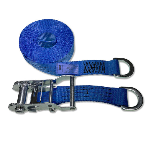 35mm Wide, 6m Max Length Ratchet Straps - Delta Ring Ends