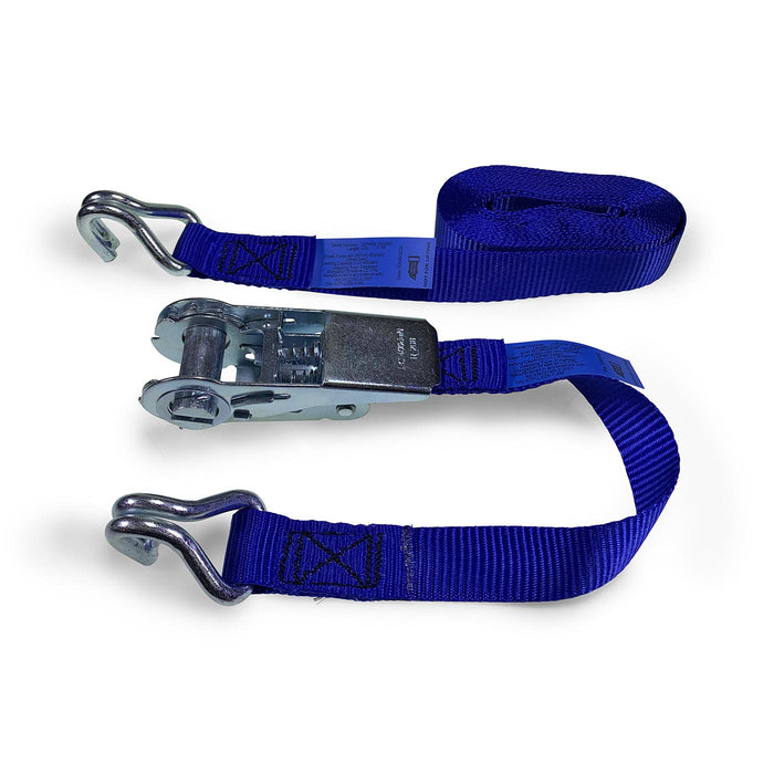 25mm Wide, 800kg Ratchet Strap wth Claw Hook Ends - 6 Metre Length