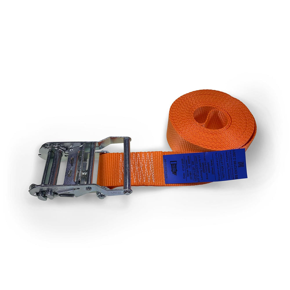 50mm Wide, 6m Max Length Ratchet Straps - Endless