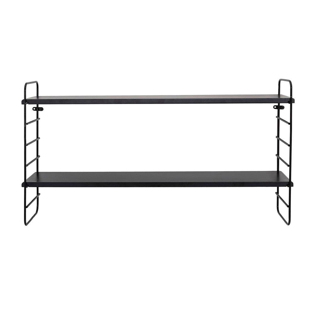 Black Metal String Shelf