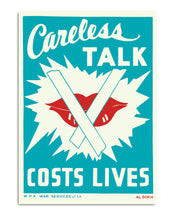 Careless talk - costs lives Vintage Poster
