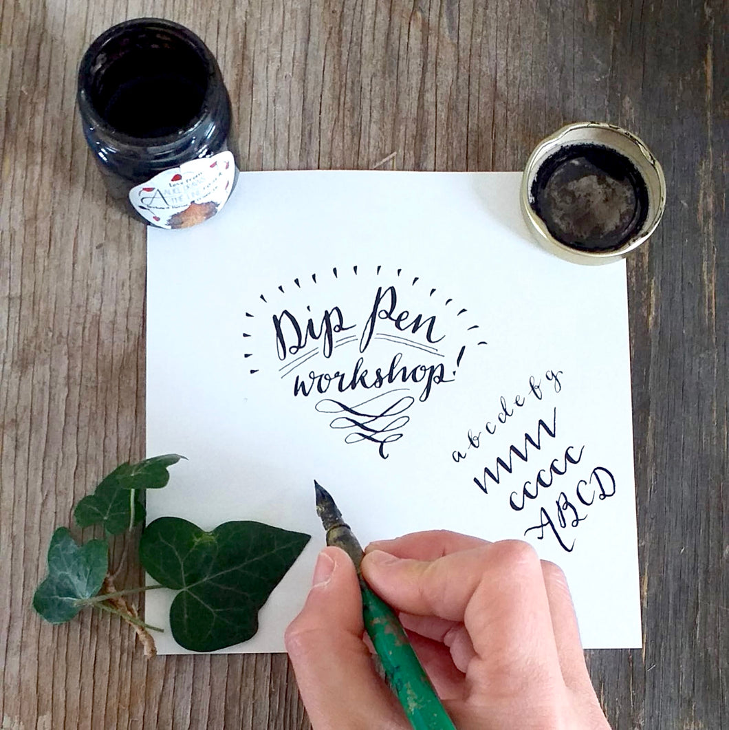 Dip Pen Calligraphy Workshop - Weds 25th Mar 6.30pm