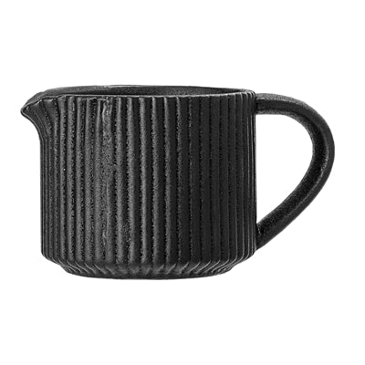 Black Ribbed Milk Jug