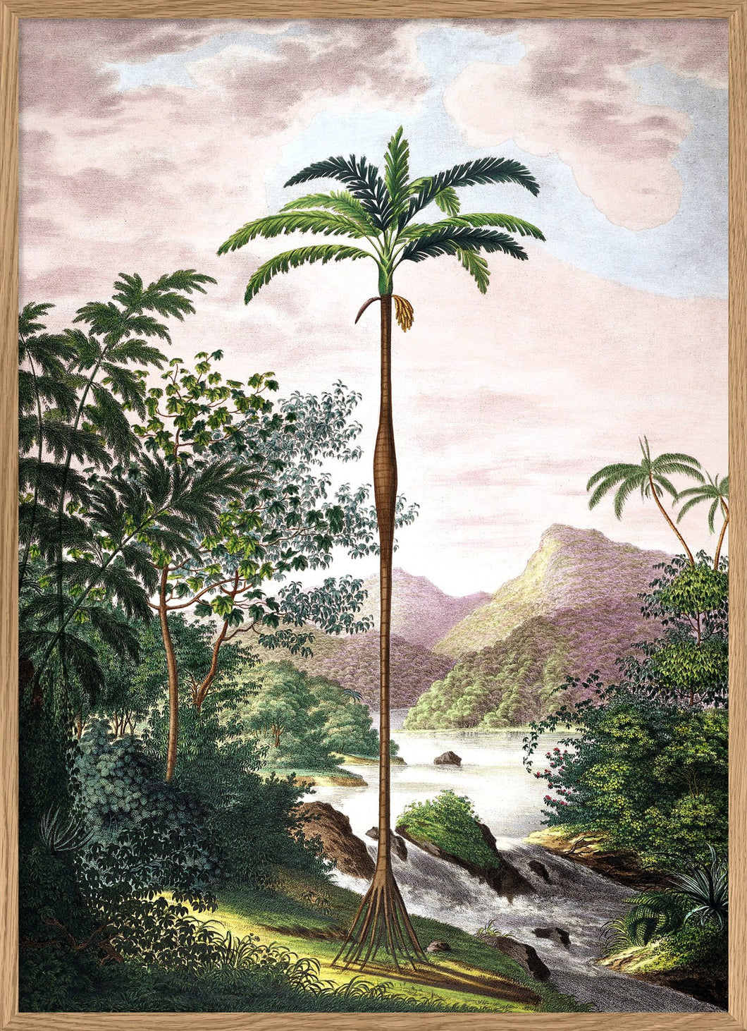 Vintage Palm Tree Poster 50x70cm