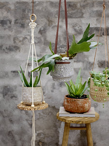 Natural Stoneware Hanging Pot