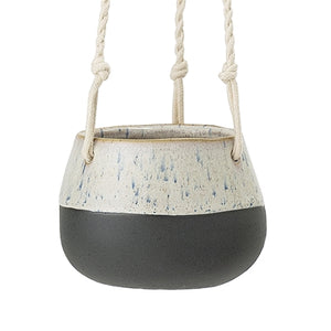 Small Blue Glaze Hanging Pot