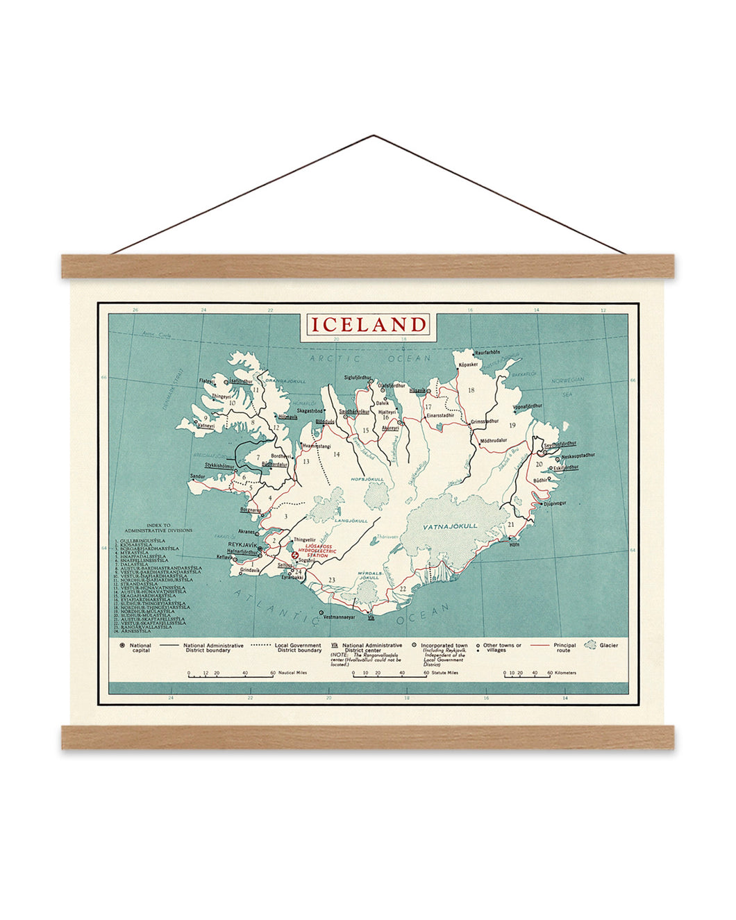 Map of Iceland Print