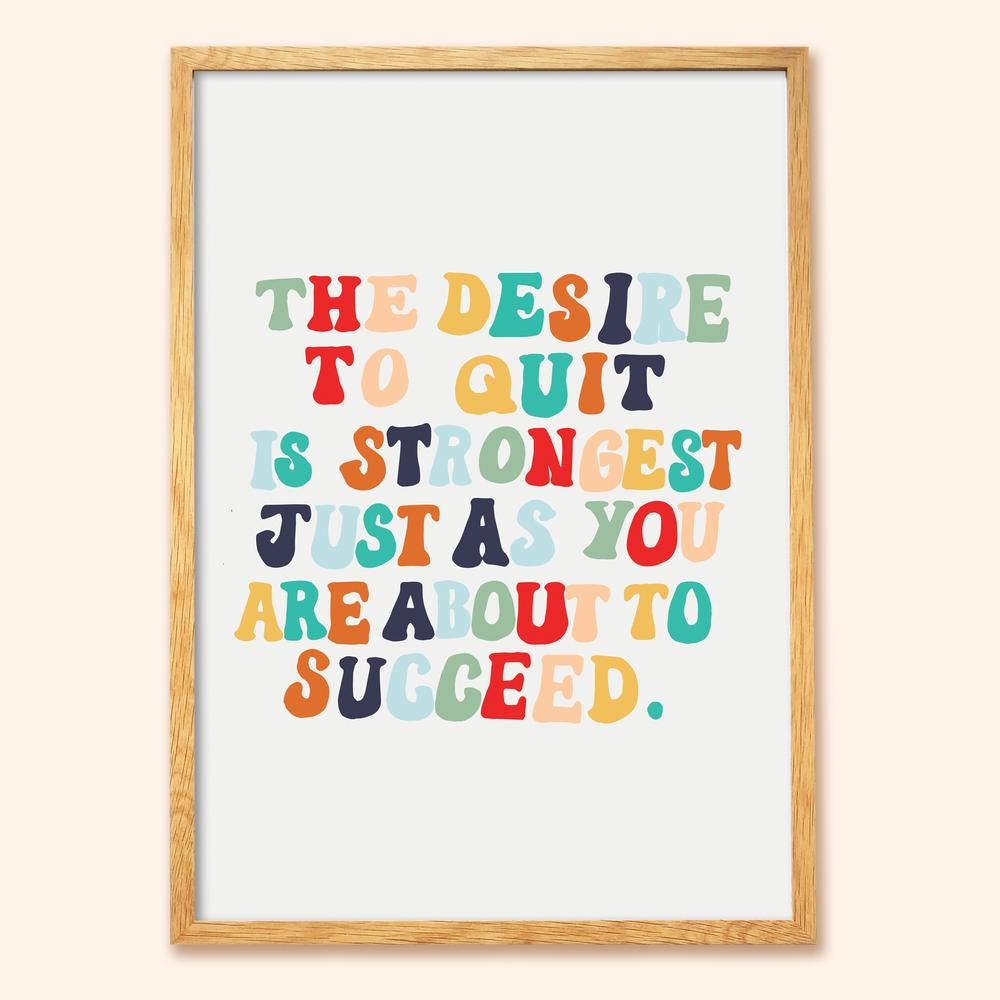 Succeed Motivational A3 Print