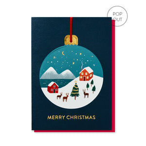 Winter Wonderland Christmas Card Pop Out Bauble