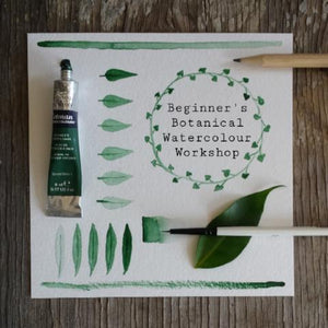 Beginner's Botanical Watercolours Workshop - Weds 8th Apr - 6.30pm
