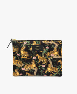 Black Lazy Jungle XL pouch bag