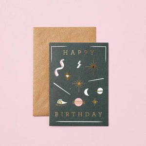 Happy Birthday (night sky) card
