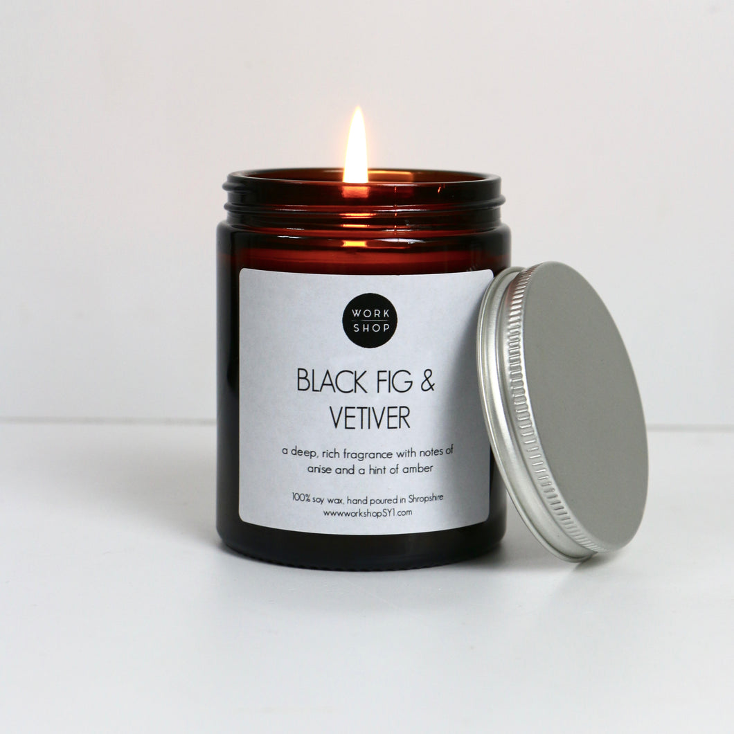 Black Fig & Vetiver Soy Wax Candle