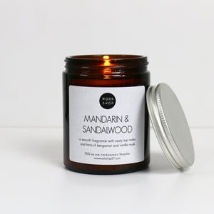 Mandarin & Sandalwood Soy Wax Candle