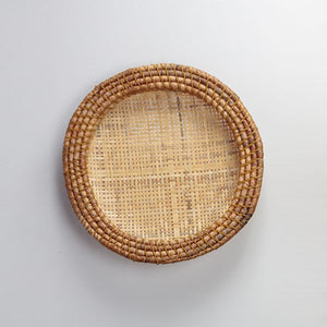 Large rattan decorative plate