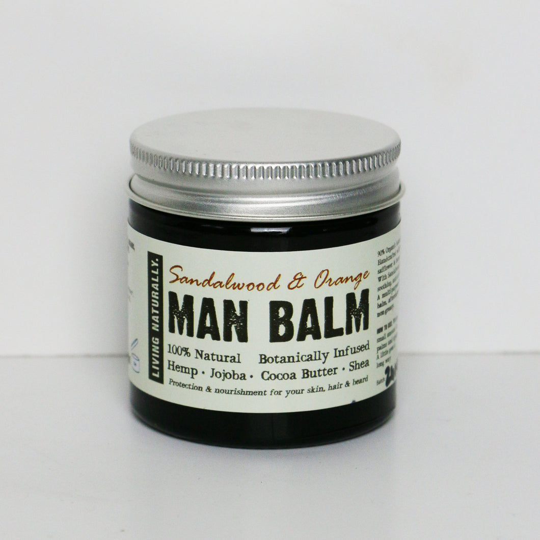 Botanic Man Balm Moisturiser - Sandalwood & Orange