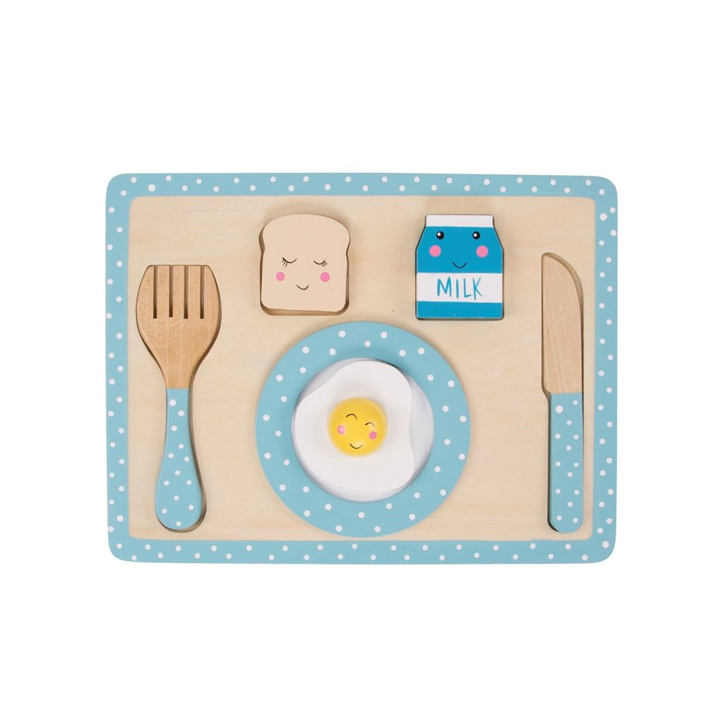 Wooden Kitchen Breakfast Play Set