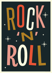 Rock 'N' Roll Screenprint