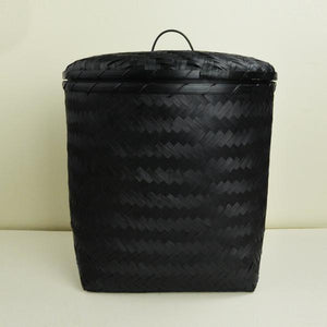 Black Rupa Storage Basket with Lid