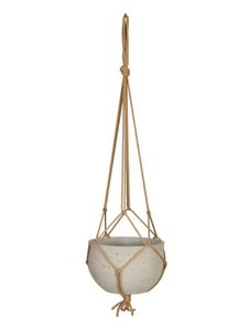 Concrete hanging pot - grey