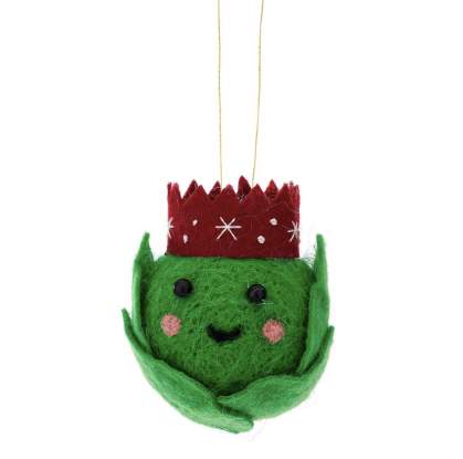 Brussel Sprout Felt Hanging Decoration