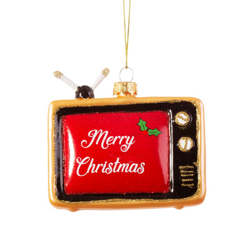 Retro TV Christmas Bauble