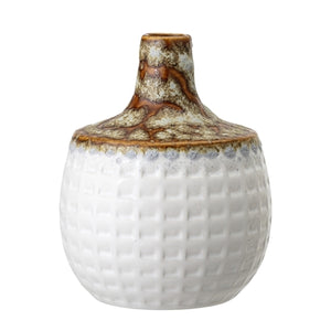 White textured glaze vase
